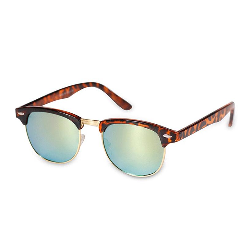 Half Framed Fashion Glasses : Male and Female Models Metal Half Frame Sunglasses Retro ...