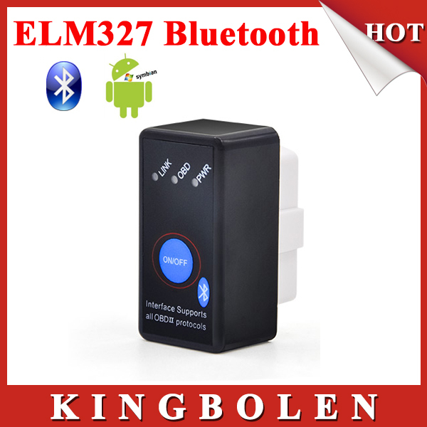 2015 New Super Mini Bluetooth ELM327 OBD2 Diagnostic Scanner With Power Switch Works on Android Symbian Windows ELM 327(China (Mainland))
