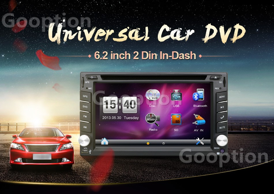 NEW Store!Car Electronic 2 din Car DVD Player GPS Navigation 6.2inch 2din Universal Car Radio In Dash Stereo Video Free Map