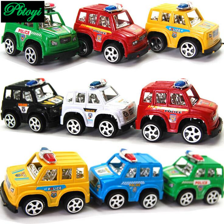 Gifts For Children Plastic Toys Wholesale Mixed Batch Pull Back Car Model Hot Police 20g PI0693(China (Mainland))