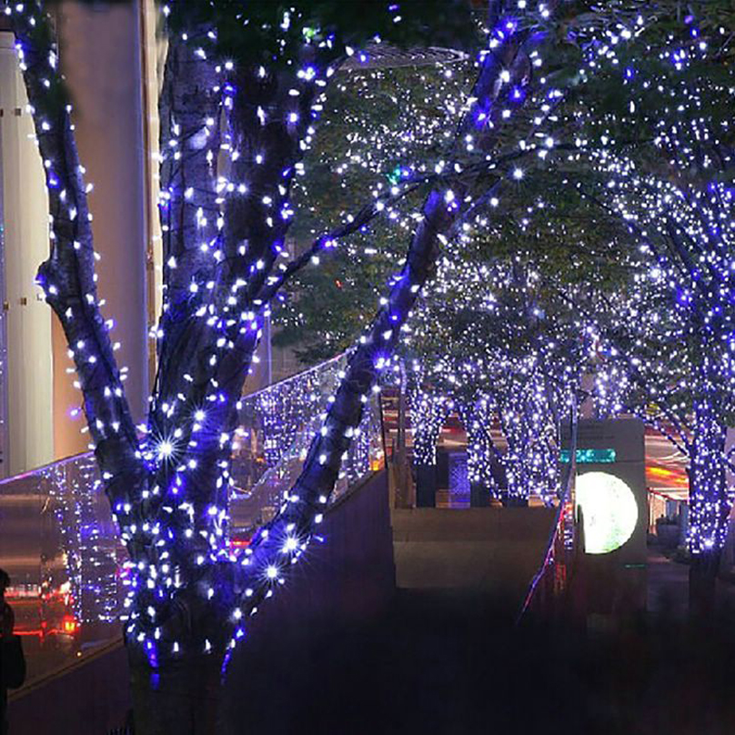 12M 100 Leds Outdoor LED String Fairy Lights Solar Power Courtyard