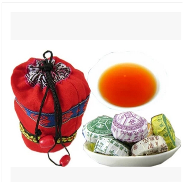 Wholesale 110g Cloth Bags 20Pcs Different Natural Flavour Puer Tea Cake The Chinese PuEr Tea Weight