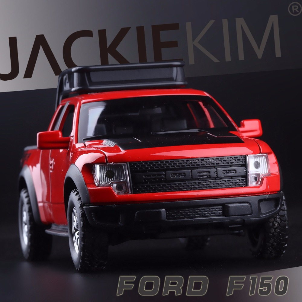 High Simulation Exquisite Model Toys Double Horses Car Styling Ford F150 Raptor Pickup Trucks 1:32 Alloy Car Model Best Gifts(China (Mainland))