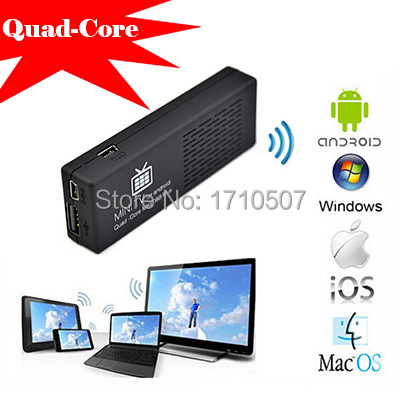 MK808B Plus Android TV Stick wireless Quad Core HDMI Mini PC Amlogic M805 support XBMC H.265 1080P live video better than CS918(China (Mainland))