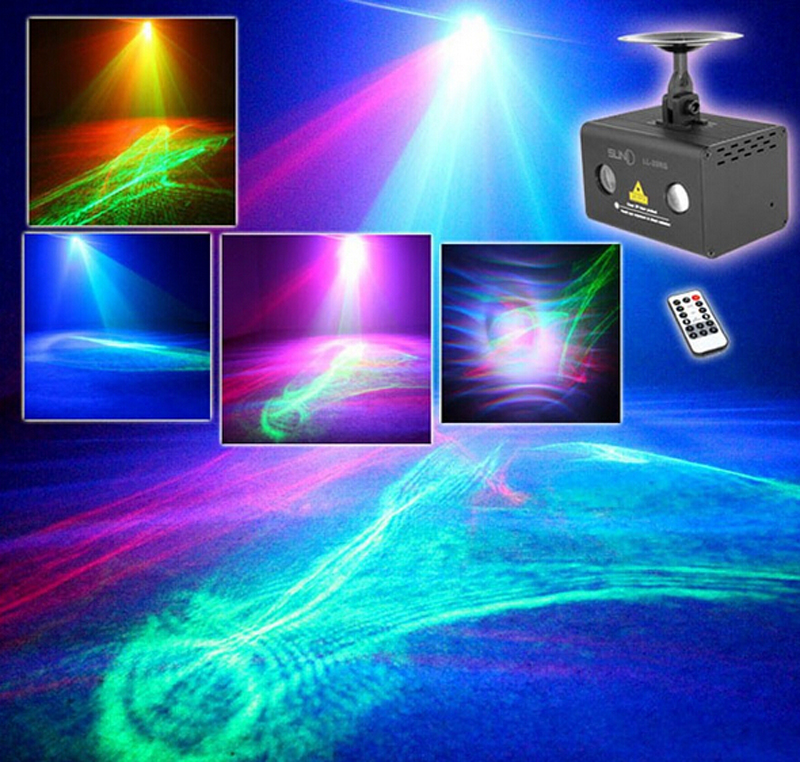 NEW Remote Controller RG Aurora Laser Light Professional Stage Lighting Equipment Sky RGB LED Stage Party Disco DJ Home Light(China (Mainland))