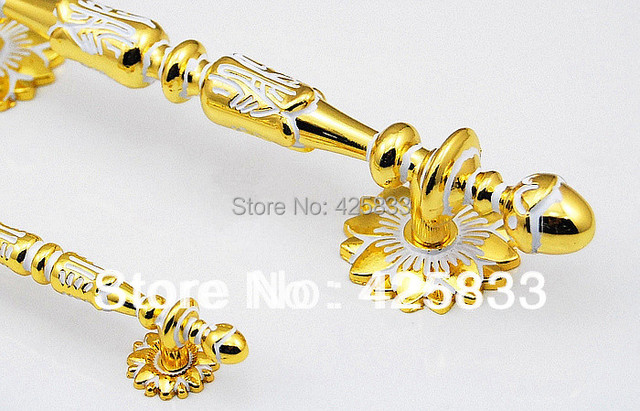 Hot Sale 128mm Golden  Zinc Alloy Cabinet Drawer Knobs Gold Dresser Pulls Furniture Shoes Kitchen Classical