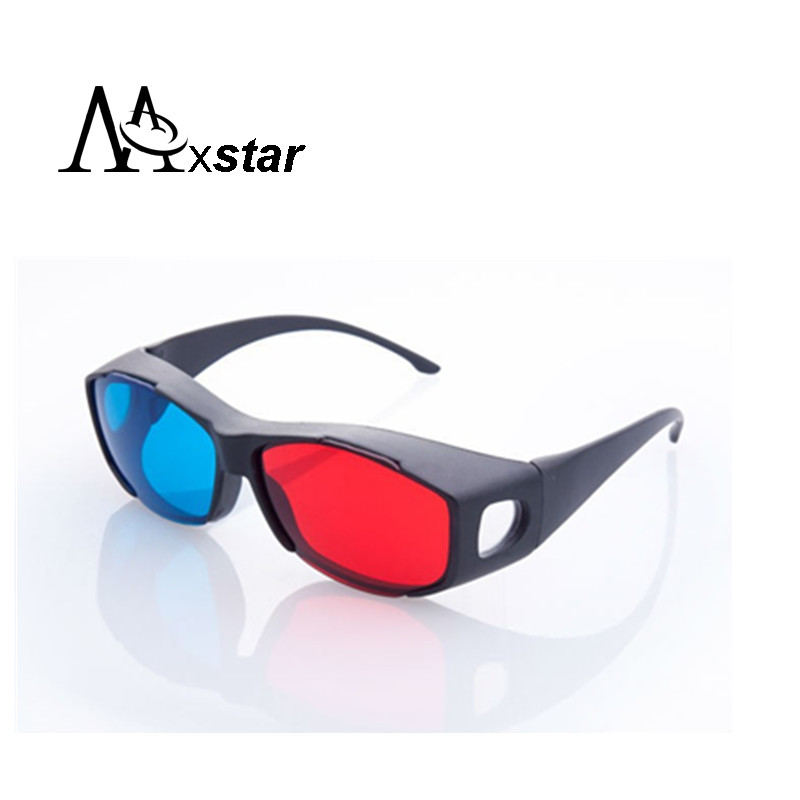 5pcs Universal type 3D glasses/Red Blue Cyan 3D glasses Anaglyph 3D Plastic glasses(China (Mainland))