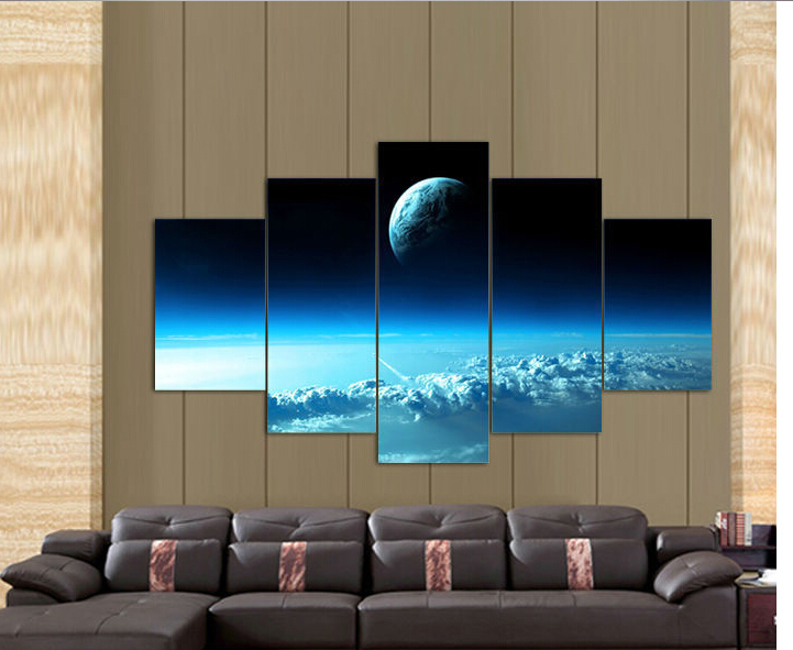 Dream Blue Starry Sky Wall Art Picture Home Decoration Living Room Canvas Print Painting picture printing canvas - Family art decoration store