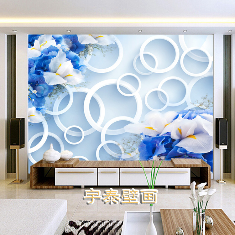 3d ems free shipping 10 square meters wallpaper mural for Living room 10 square meters