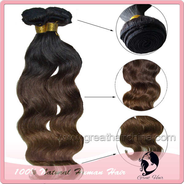 Здесь можно купить  Queen Hair Products Ombre Color Real Natural Hair Extensions,  100 grams/piece Body Wave Machines Weaving Hair  Волосы и аксессуары