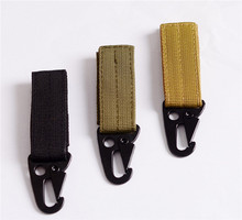 Travel Backpack Clasp Olecranon Molle Hook Men Camping Survival Gear EDC Tactical Carabiner Military Nylon Webbing Keychain Hook(China (Mainland))