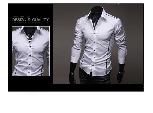 2015 New Mens shirt Casual Brand Slim Fit Camisas Social Business Long Sleeve Shirt Leisure Shirts