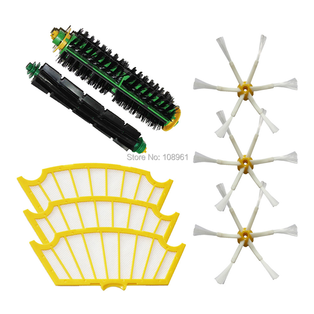 Потребительские товары 6 3 iRobot Roomba 500 Roomba 510, 530, 535 for iRobot Roomba 500 Series 760 770 780 790 3 pack 3 armed side brush replace for irobot roomba vacuum 800 series 880 870 900 series 980 vacuum cleaning accessory kit