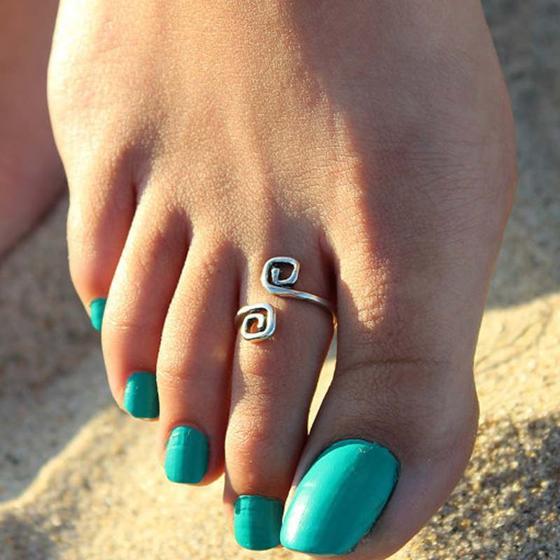 wholesale Women Lady Unique Retro Silver Plated Nice Toe Ring Foot Beach ring Jewelry(China (Mainland))