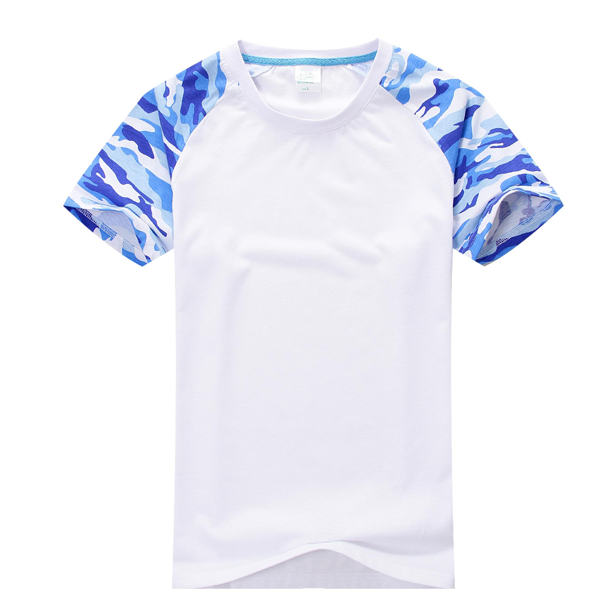 Create own logo on t shirt battle camouflage paint short sleeve reglan logo printing embroidered brand name modal cotton tshirt(China (Mainland))