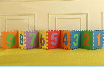 Бесплатная доставка продажи 30 * 30 см 10 шт./компл. головоломки ковер ребенка играть коврик пазл ева детей пены мозаичный пол