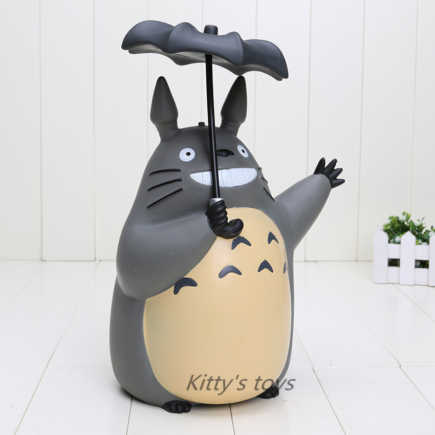 font b Anime b font Cartoon Totoro with Umbrella PVC Action Figure Collectible Toy Doll