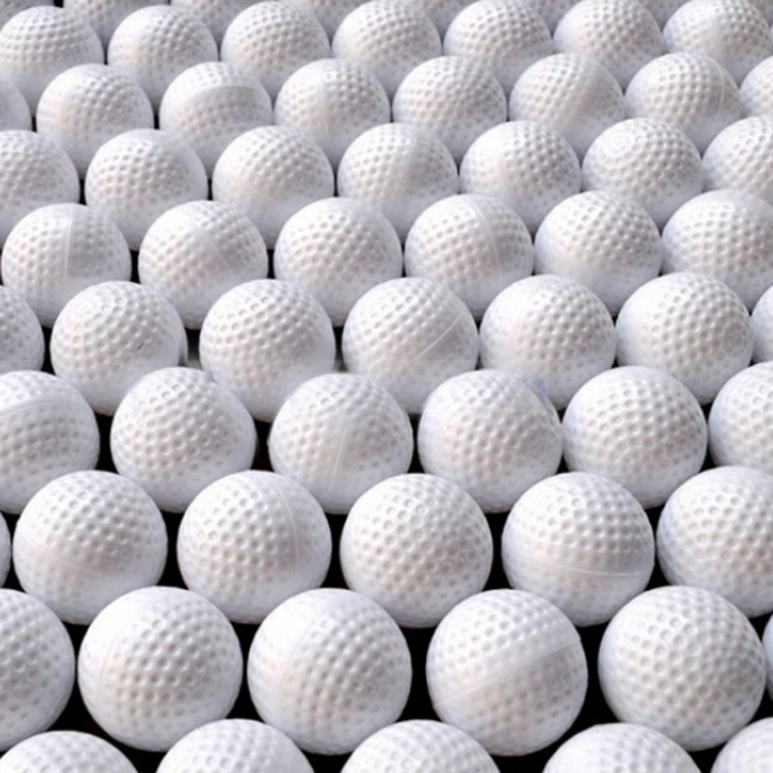 100Pcs Hollow Golf Balls Indoor Practice Training Balls Golf Training Aids Golf Accessories Outdoor Sports