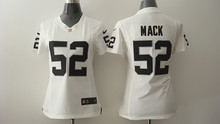 100% stitched Women Oakland Raiders ladies 4 Derek Carr 11 Sebastian Janikowski 24 Charles Woodson 34 Bo Jackson 52 Khalil Mack(China (Mainland))