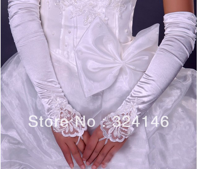 S146- New Bridal gloves Wedding Gloves fingerless gloves beautiful gloves retail Wholesale