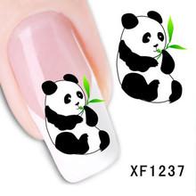 1 Sheet New Design 3D Water Transfer Printing Nail Art Sticker Decals Cute Panda DIY Nail Decoration Styling Tools