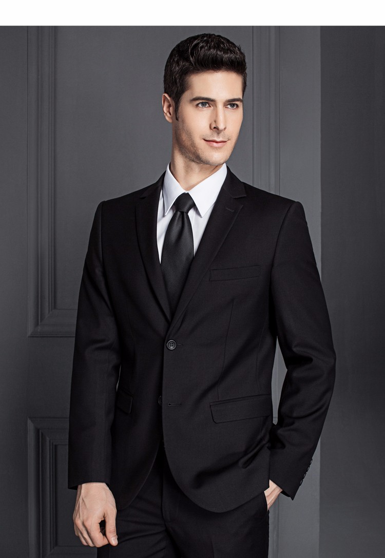 HTB1oc0tPXXXXXamXFXXq6xXFXXX6 - 2017 Men Business Suit Slim fit Classic Male Suits Blazers Luxury Suit Men Two Buttons 2 Pieces(Suit jacket+pants)