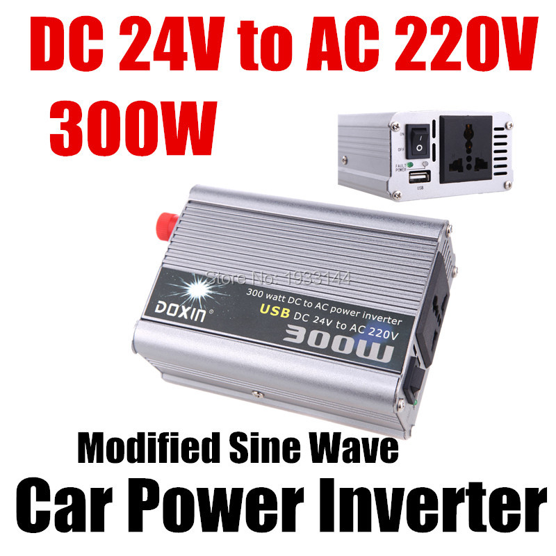 300W Portable Car Auto Truck bus vehicle Boat USB DC 24V to AC 220V Super Power voltage Inverter Converter transformer Charger(China (Mainland))