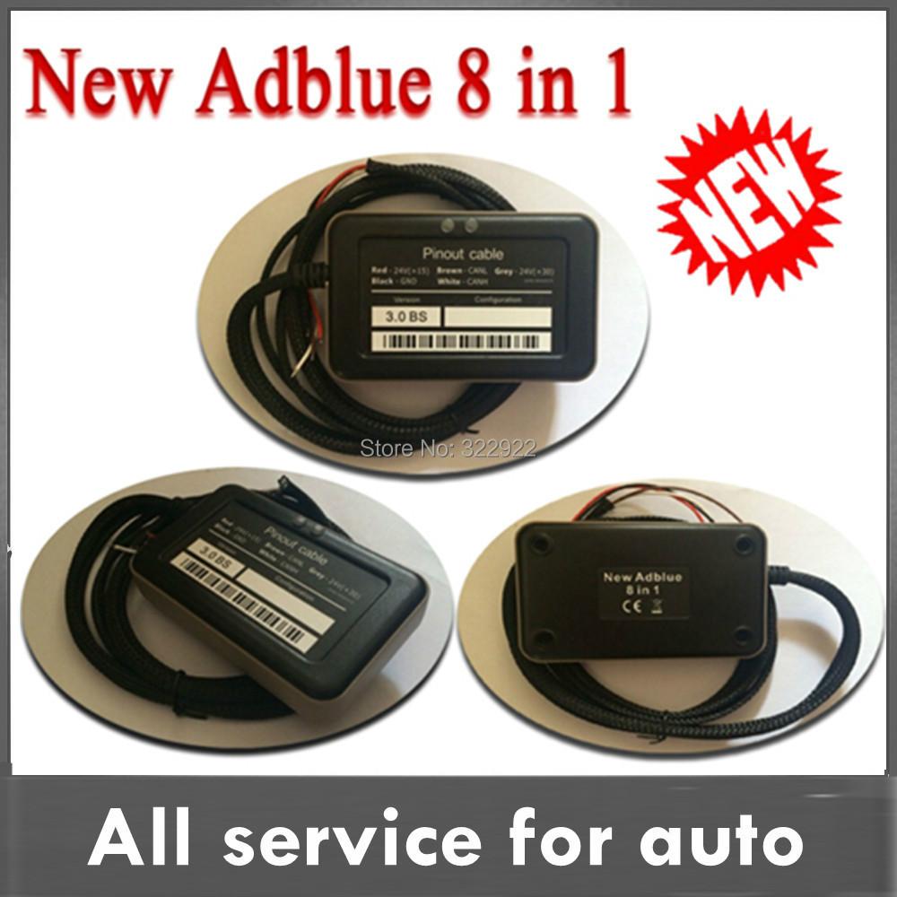 2015 Newly NOx sensor emulation Adblue emulator 8 in1 trucks support MAN,Iveco,Renaut, DAF, Scania/fod/bnz/volvo free shipping(China (Mainland))