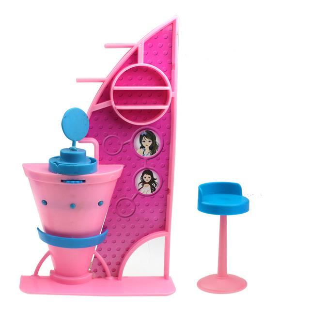 Poppenhuis meubels bar play set met stoel voor barbie 11 for Poppenhuis voor barbie