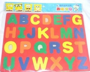 Free shipping Puzzle child eva magnetic puzzle child jigsaw puzzle 26 letter refrigerator stickers(China (Mainland))