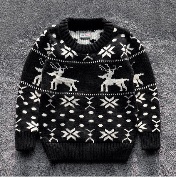 842-38 Wholesale High New 2015 Autunm Boys Sweaters Dobby Deer Snow Kids Pullovers Boy Causal Sweater Worm Children Clothes Lot<br><br>Aliexpress
