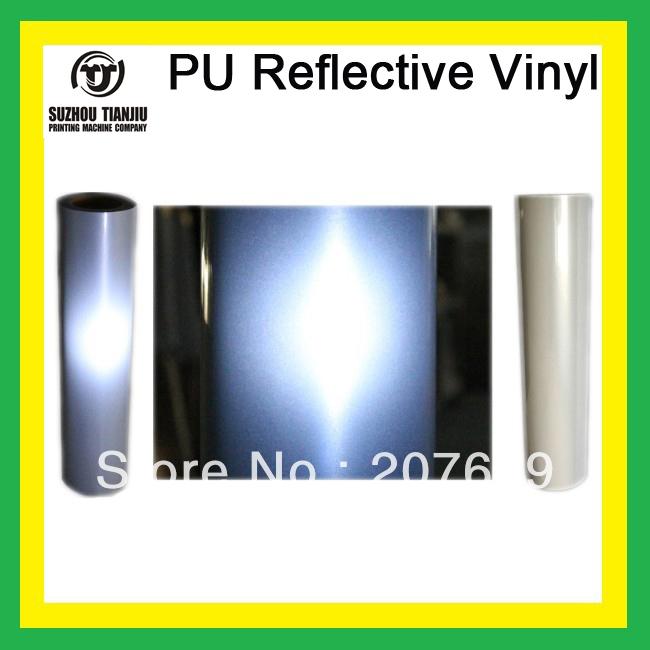 "TJ T Shirts PU Reflective High Quality Heat Transfer Vinyl 0.5*25meter(20""x984"")/Roll Order Roll by Roll(China (Mainland))"