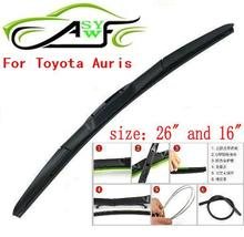"""Free shipping car wiper blade For Toyota Auris Size 26"""" 16"""" Soft Rubber WindShield Wiper Blade 2pcs/PAIR(China (Mainland))"""