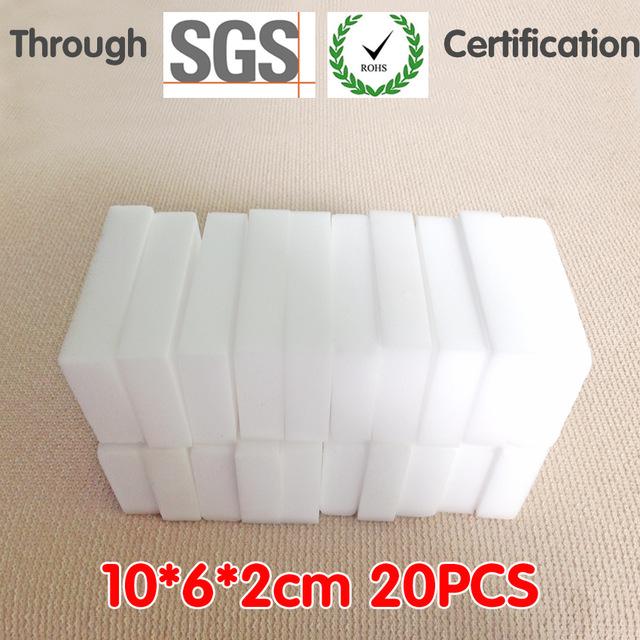 20Pcs White Multi-function Magic Melamine Sponge Nano Sponge Eraser Cleaning Sponges Cleaner Kitchen Bathroom 100x60x20mm(China (Mainland))