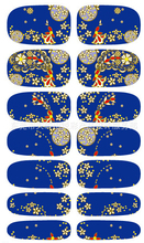 Chinese style Water Transfer Nails Art Sticker Volcano  Design Manicure Decals Harajuku Styling Tools Nail Wraps Sticker K5649