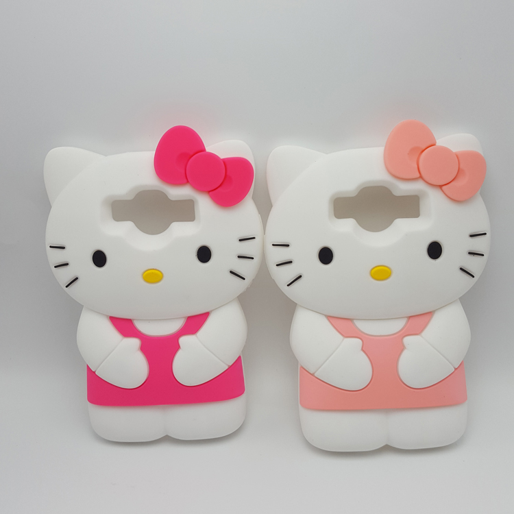 Cute 3D Cartoon Hello Kitty Soft Silicone Case For Samsung Galaxy Core Prime G360/J1/J1 Ace universal Rubber Cover Phone Cases(China (Mainland))