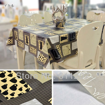 HOT ~ High quality PVC new table linen/ tea table cloth Waterproof  home textile 140*220cm  Lowest price