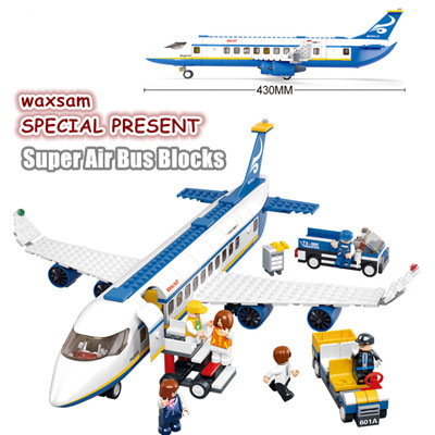 Simple box Sluban M38-B0366 Air bus Plane aviation Building Blocks Transport enlighten aircraft vehicle Toy Bricks set for kids(China (Mainland))