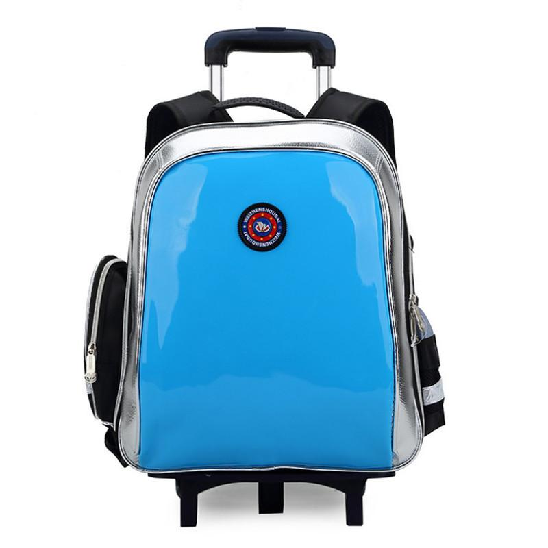 children school bags boys girls backpacks mochila infantil waterproof grade 1-6 backpack child trolley three wheels