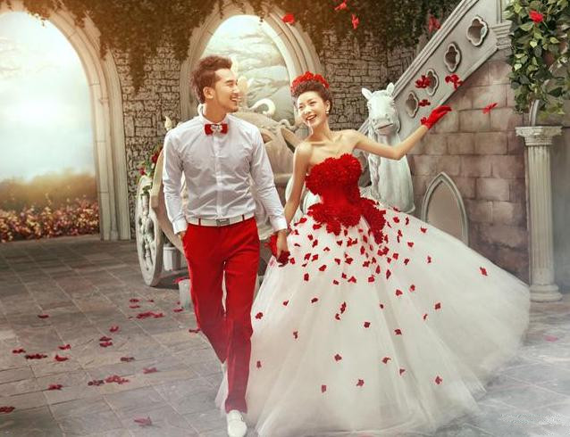 Red Roses Wedding Dress | Weddings Dresses