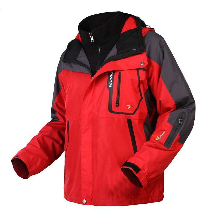 Outdoor Jacket Men Waterproof Windproof Ski Coat Man SoftShell Coat Brand Hunting Camping Sports Fleece Hooded Down Outerwear(China (Mainland))