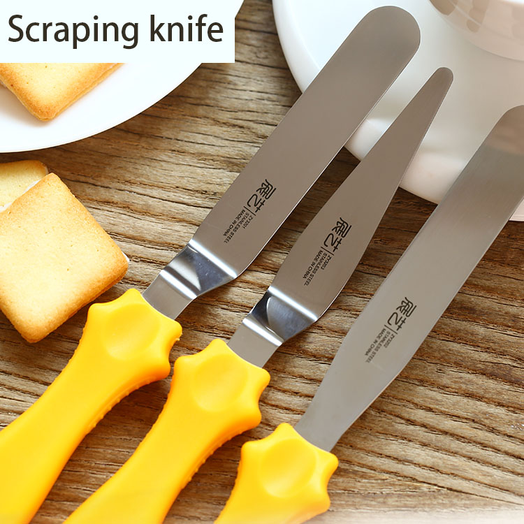 High Quality New Year Party stainless steel Butter cake Filling Spatula knife Smoother Blade scraper Baking tools household(China (Mainland))