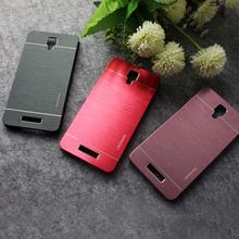 Коке Motomo роскошный алюминиевый металлической щеткой пластик жесткий назад телефон чехол для Xiaomi редми примечание 2 чехол / для редми примечание 3 принципиально