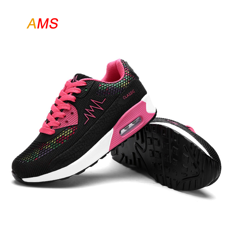 2016 Hot Air Mesh Breathable Women Running Shoes Girls Ladies Comfortable Platform Sport Shoes Sneakers Outdoor Movement Female(China (Mainland))