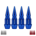 Senzeal Universal 4x Aluminum Conical Car Truck Tire Air Valve Stem Cap Cover Bicycle Motorcycle Wheel