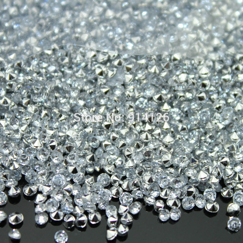 10000 pieces 2 5mm Crystal clear silver Diamond Confetti Table Scatter Wedding Favor Favour Party Decoration
