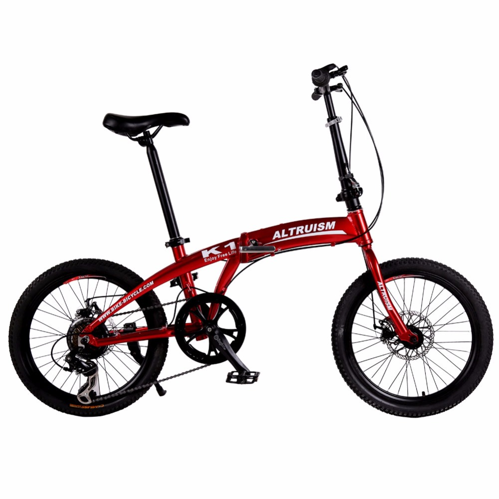 Altruism K1 Mountain Bike 20'' Aluminum Girls bicycle 7-Speed Top Quality folding bicycles with disc brake Folding Bike(China (Mainland))