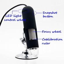 2016 Andonstar 3pcs/lot Free Shipping 20x-400x 2.0 Mega Pixels 8 Led Light Usb Digital Microscope Magnifier Video Camera #ec101