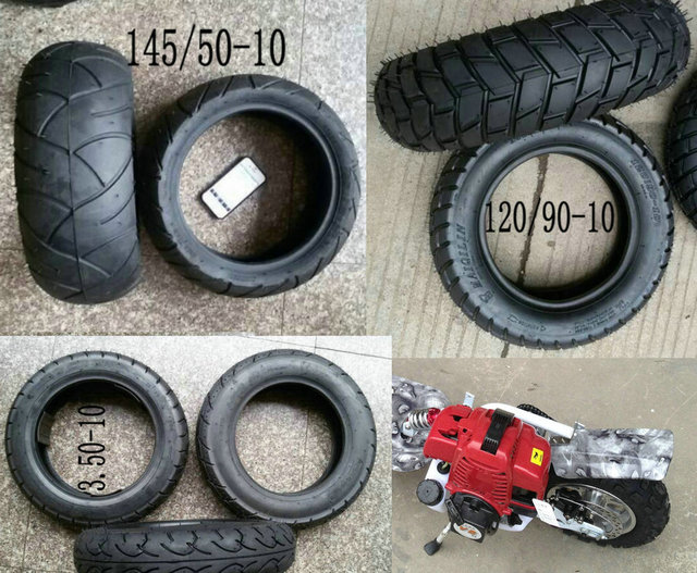 3.50-10 145/50-10 120/90-10 motorcycle tires