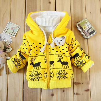 Children Clothing kids coat 2015 winter girl Brand Coats girls Cartoon cotton Fawn jacket baby Cotton-padded clothes